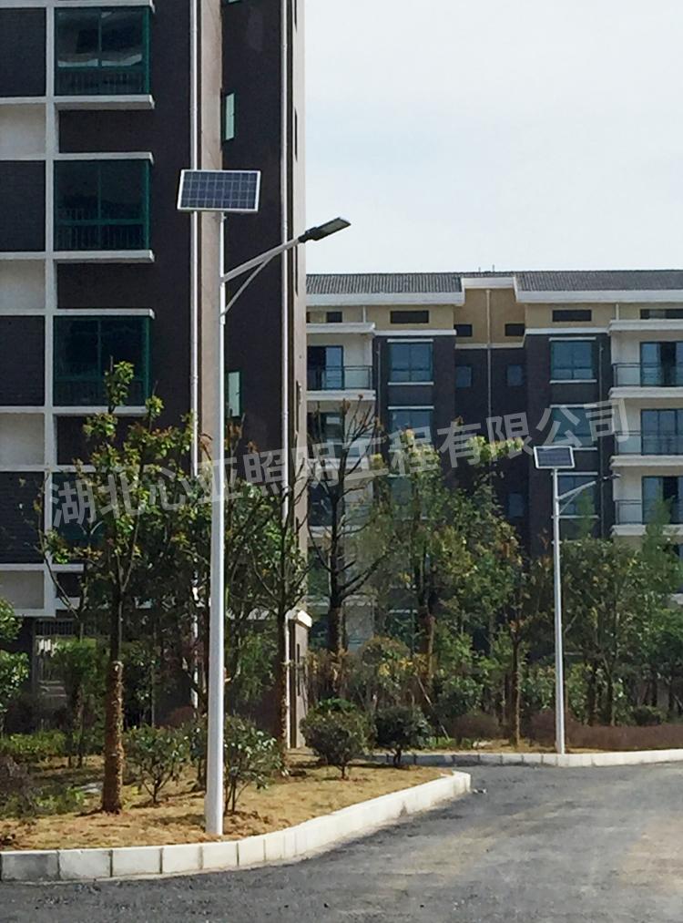 陈埫坪安置小区太阳能路灯安装完成效果2