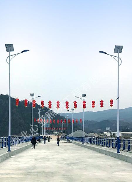 十堰市郧阳区谭山镇白龙庙大桥太阳能路灯项目