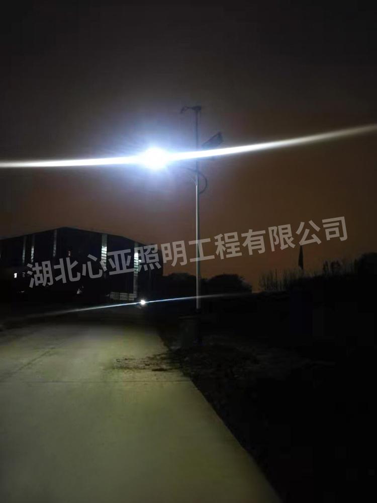 武汉青山区武钢金资公司治金渣分公司太阳能风光互补路灯项目