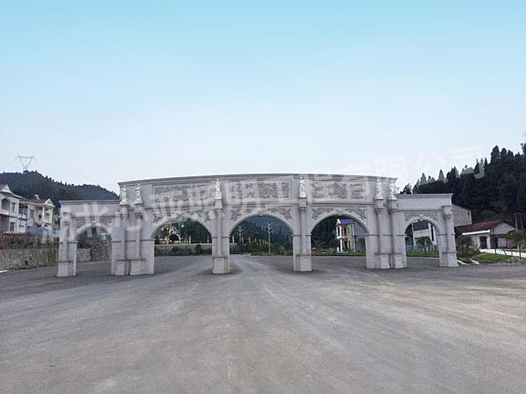 湖北稻花香集团蔡府庄园别墅大门