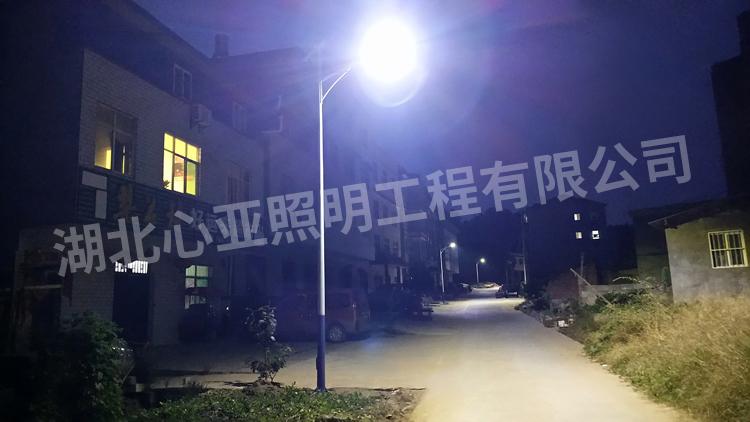 十堰云阳区鲍峡镇郭家店村太阳能路灯照明项目