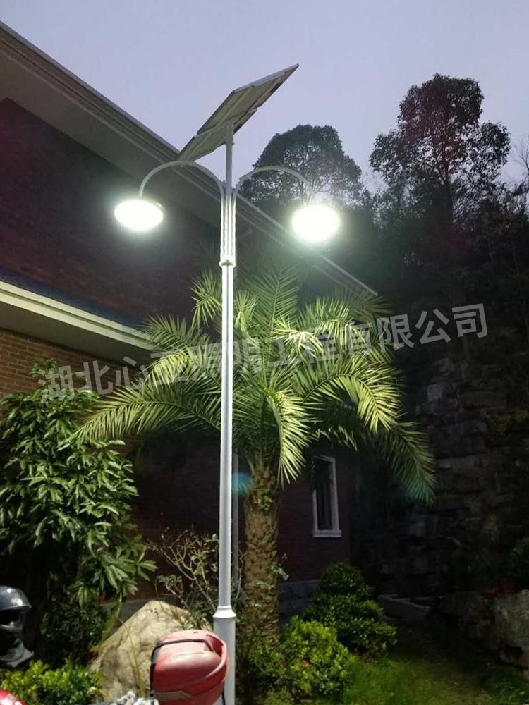 太阳能庭院灯安装完成效果4