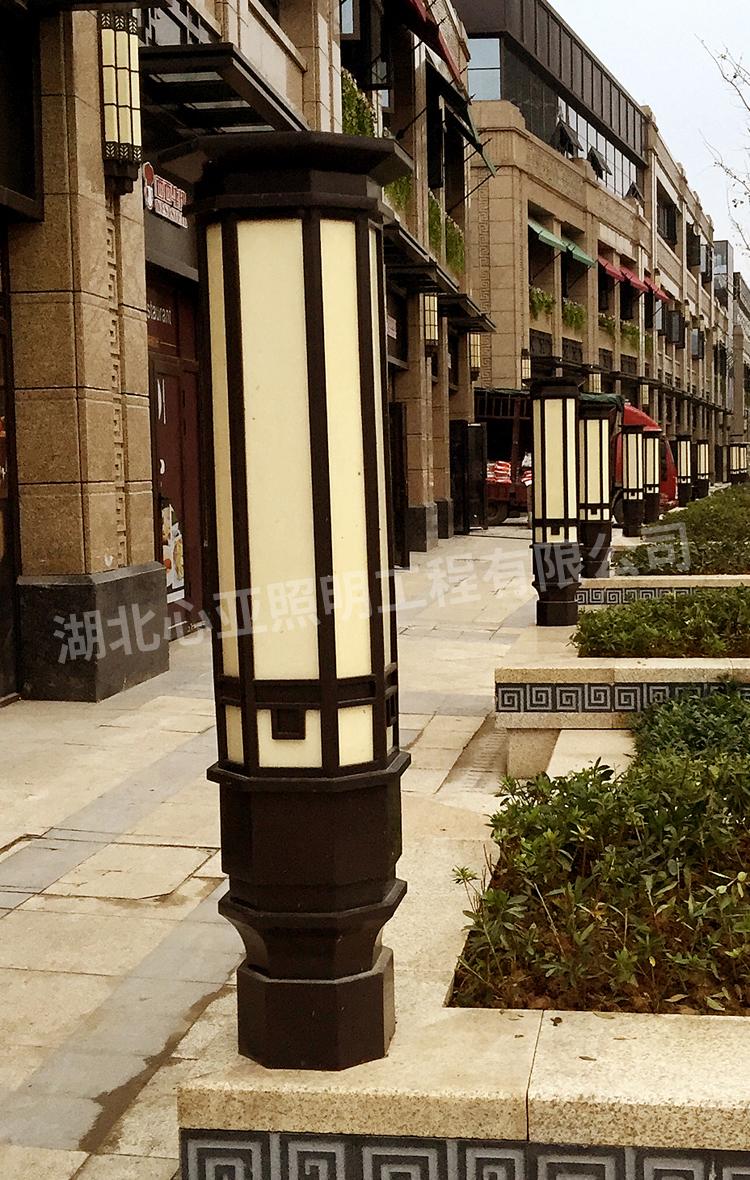 宜昌伍家岗区中建之星景观灯照明项目柱头灯全景