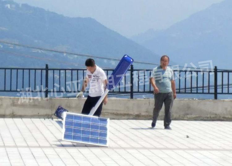 太阳能路灯安装中