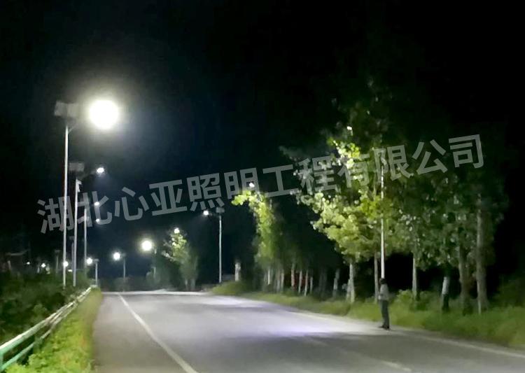 太阳能路灯夜晚效果