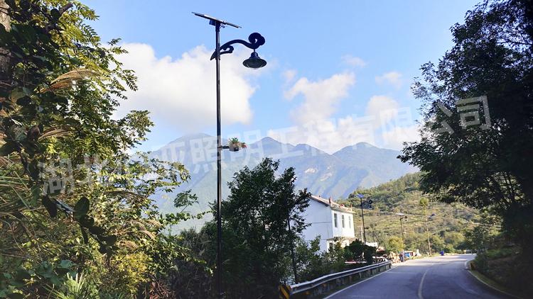 兴山高桥乡贺家坪村太阳能路灯照明项目