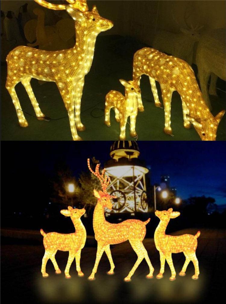 梅花鹿动物灯