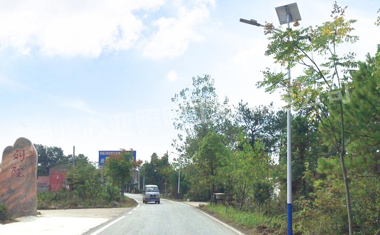 荆门漳河新区刘院村太阳能路灯照明项目
