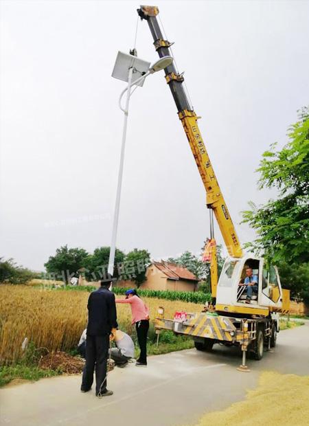 甘肃省庆阳市宁县中村镇新源村太阳能路灯项目