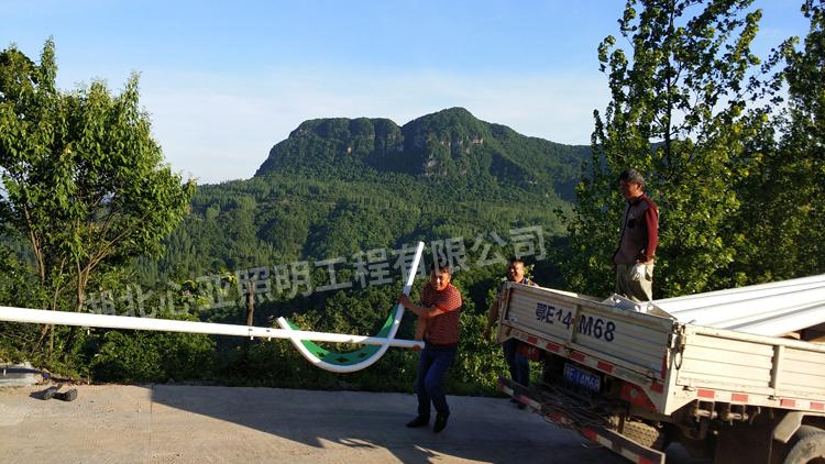 宜昌下堡坪九山村太阳能路灯照明项目