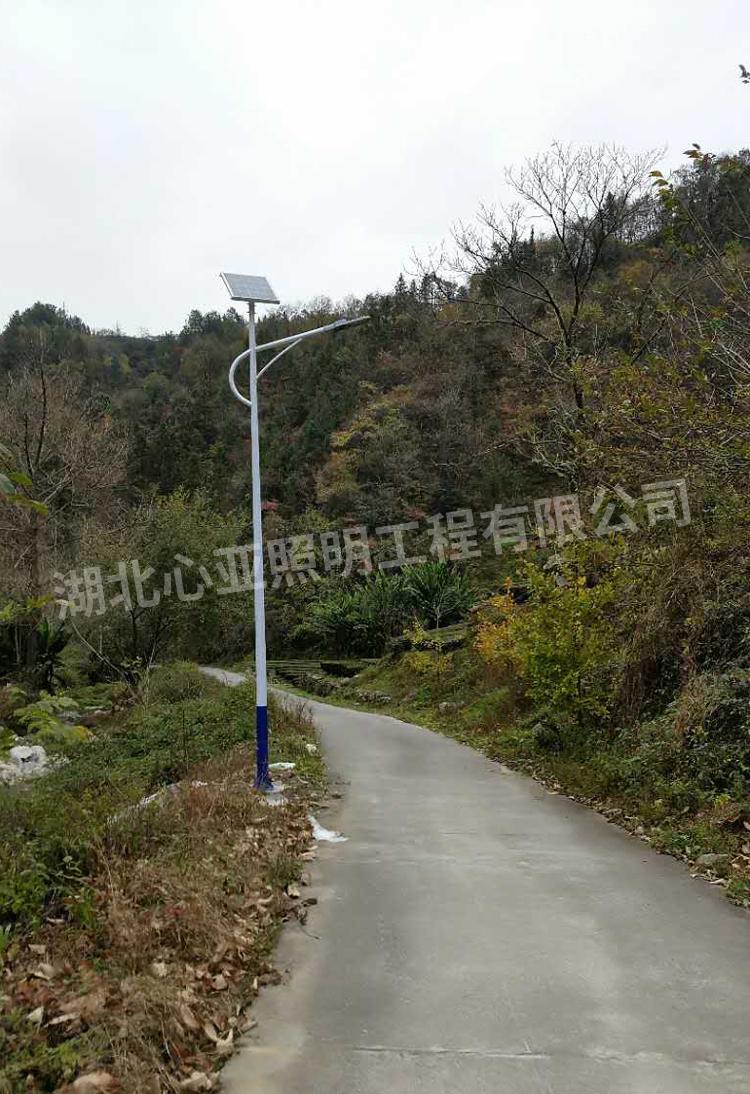 太阳能路灯安装完成效果7