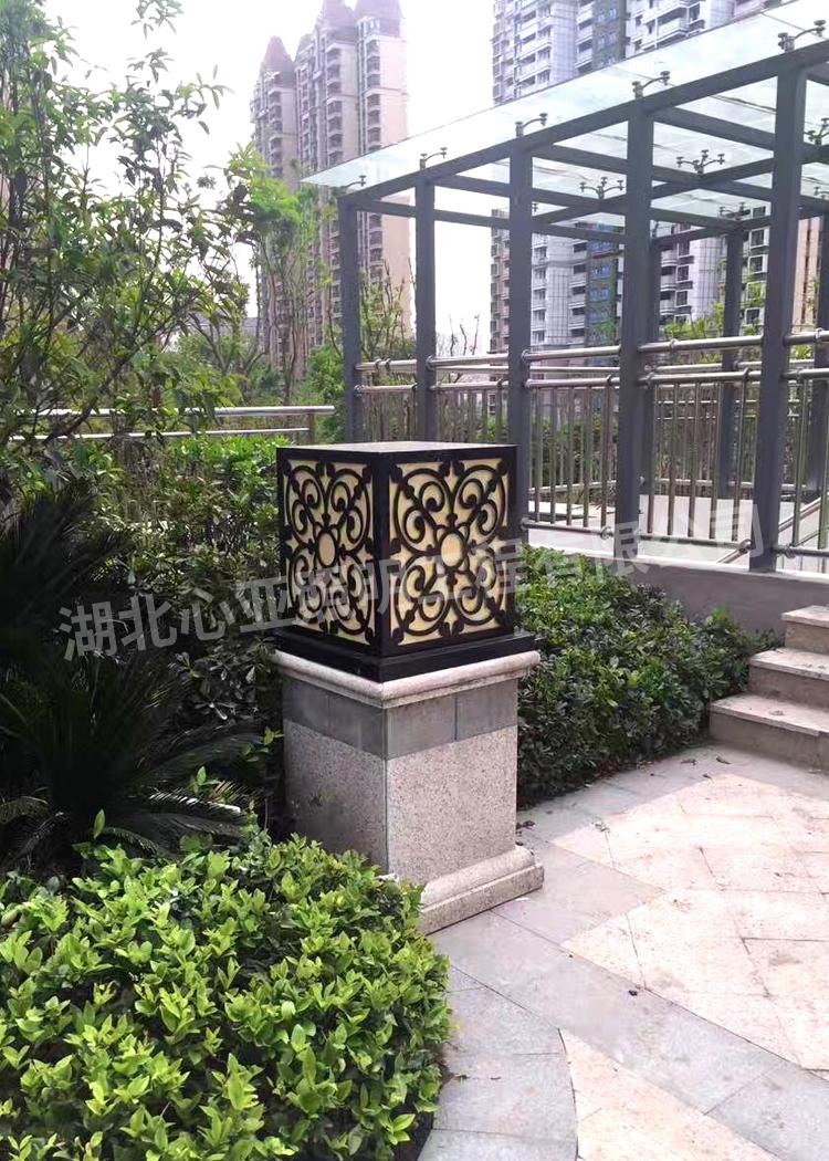 宜昌城东大道恒大帝景柱头灯1