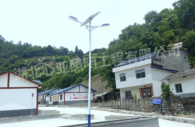 宜昌长阳金家坝太阳能路灯照明项目