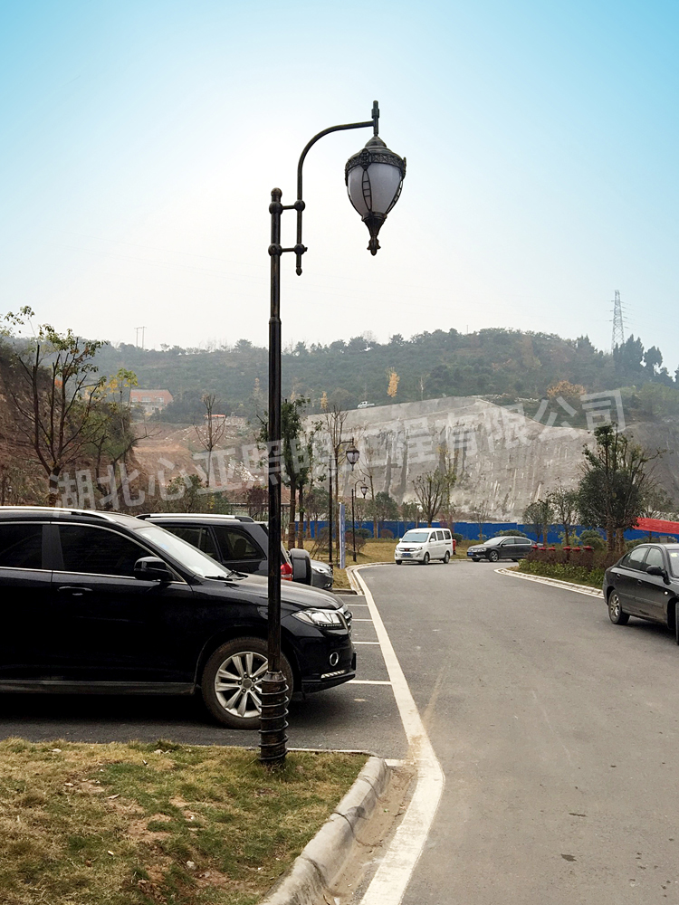 宜昌市夷陵区玫瑰城欧式庭院灯