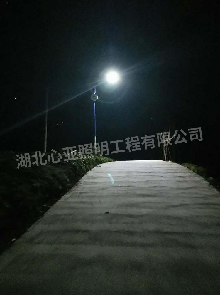 水湾村太阳能路灯夜晚效果