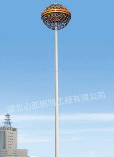 兴山峡口广场30米高杆灯,景观灯照明项目
