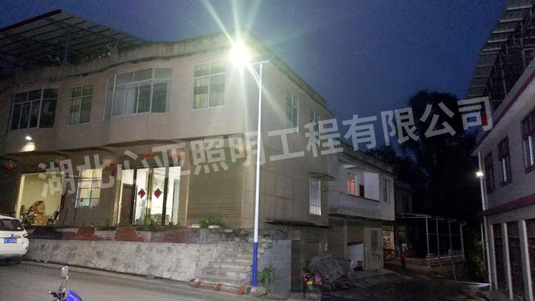 重庆奉节县兴隆镇桂花村太阳能路灯照明项目