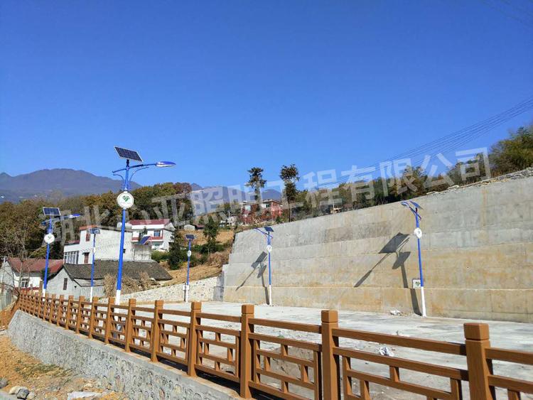 水湾村太阳能路灯安装完成效果